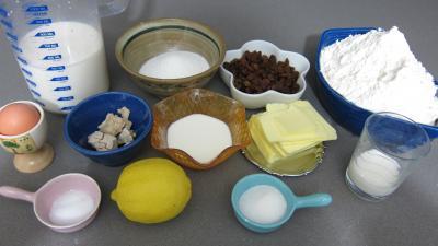 Ingrédients pour la recette : Buns