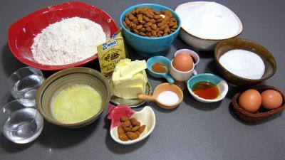 Ingrédients pour la recette : Baklavas aux amandes