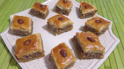 Recette Assiettes de baklavas