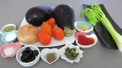 Ingrédients pour la recette : Caponata à la sicilienne