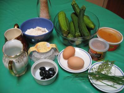 Ingrédients pour la recette : Clafoutis aux courgettes