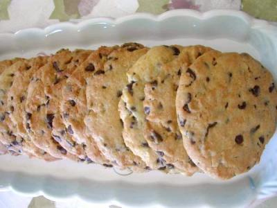 Recette Assiette de cookies croustillants aux pépites de chocolat
