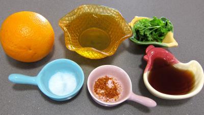 Ingrédients pour la recette : Vinaigrette à l'orange