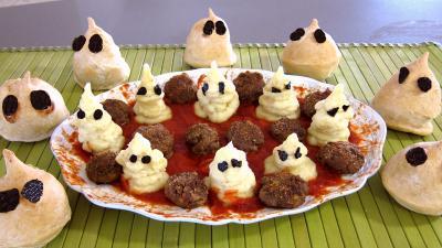 Recette Halloween et sa purée fantôme