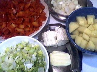 Ingrédients pour la recette : Crème de poivron rouge au boursin