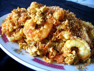 Recette Crevettes à la chinoise