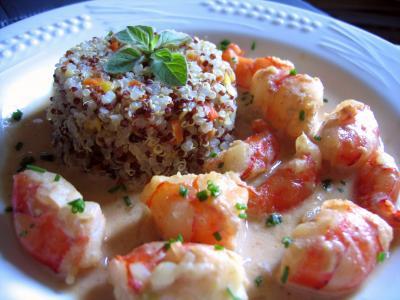 Recette Crevettes au curry et quinoa