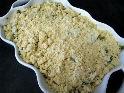 Crumble aux haricots verts et sa crème d'ail - 13.1