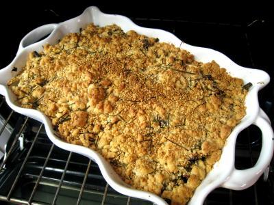 Crumble aux haricots verts et sa crème d'ail - 14.1