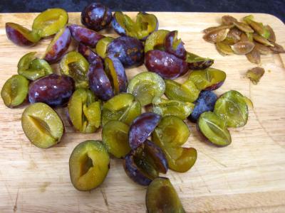 Crumble aux prunes et aux bananes - 1.3