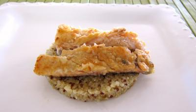 Effilochés de truite et son quinoa en risotto aux champignons - 6.1