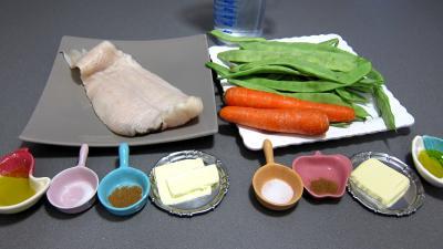 Ingrédients pour la recette : Flétan et sa sauce à la mangue
