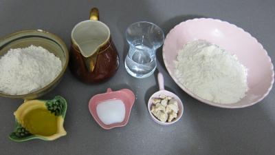 Ingrédients pour la recette : Ficelles de pain