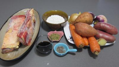 Ingrédients pour la recette : Plats de côtes en bouillon