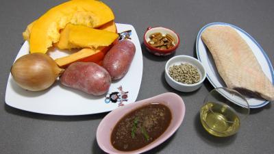 Ingrédients pour la recette : Citrouille et son magret en salade