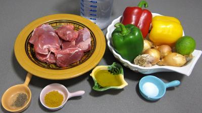 Ingrédients pour la recette : Sot l'y laisse de dinde au colombo