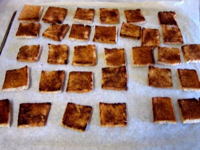 Canapés aux oeufs de truite - 2.1