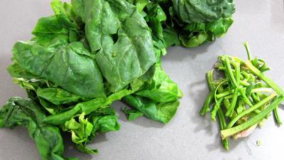 Grenouilles caramélisées aux épinards - 1.2