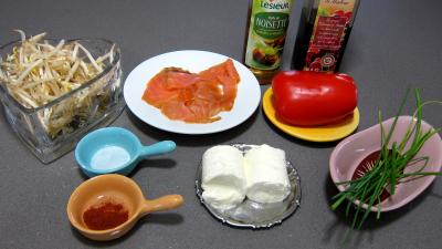Ingrédients pour la recette : Cuillères de truite fumée