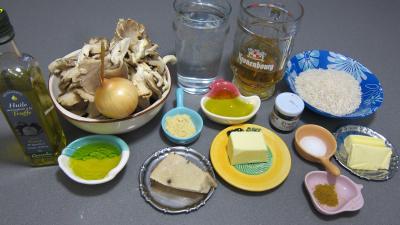 Ingrédients pour la recette : Pleurotes en risotto à la truffe