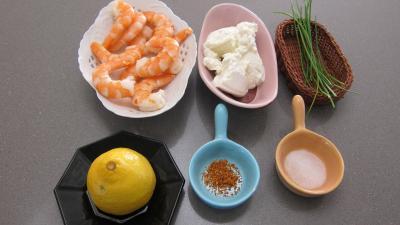 Ingrédients pour la recette : Navettes aux crevettes et à la ricotta