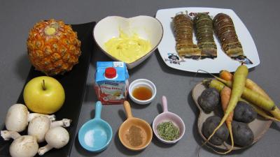 Ingrédients pour la recette : Queues de langoustes en salade