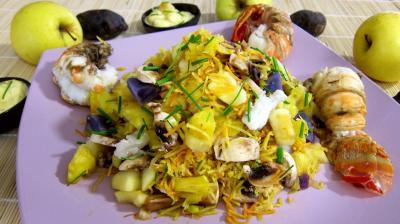 Recette Queues de langoustes en salade