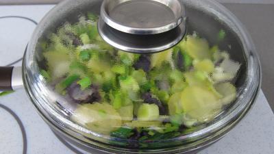 Vitelottes et légumes aux filets de dinde panés - 7.2