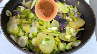 Vitelottes et légumes aux filets de dinde panés - 9.1