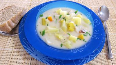 fond de veau : Assiette de topinambours et sa soupe facile