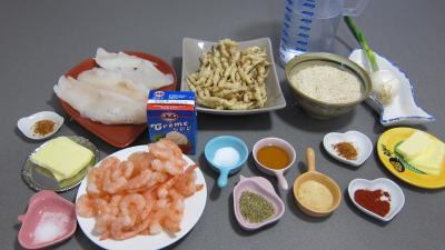 Ingrédients pour la recette : Crosnes et églefin (aiglefin) en risotto
