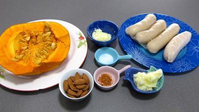 Ingrédients pour la recette : Paillassons de potiron au boudin blanc