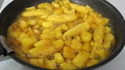 Tatin à l'ananas, fruit de la passion et bananes - 4.1