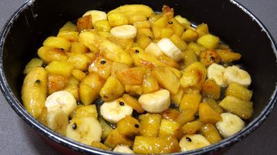Tatin à l'ananas, fruit de la passion et bananes - 4.3