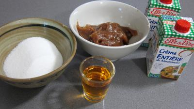 Ingrédients pour la recette : Crème caramel aux marrons