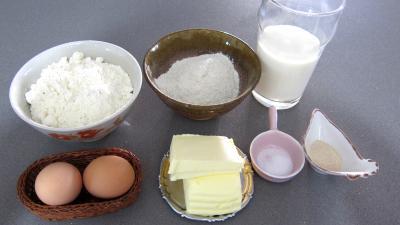 Ingrédients pour la recette : Gaufrettes au blé noir ou sarrasin