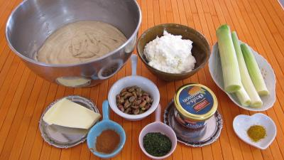 Ingrédients pour la recette : Gaufrettes aux oeufs de saumon