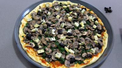 Pizza aux épinards et aux champignons - 9.1