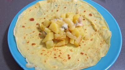 Crêpes farcies aux gésiers confits et pommes de terre - 9.1