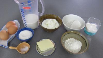 Ingrédients pour la recette : Crêpes à la noix de coco