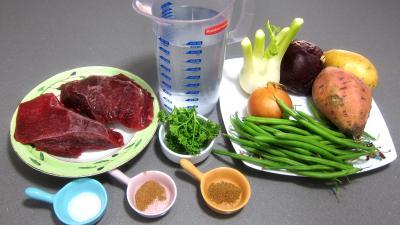 Ingrédients pour la recette : Autruche en bouillon