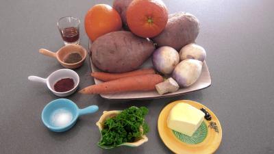 Ingrédients pour la recette : Patates douces à l'orange façon américaine