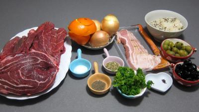 Ingrédients pour la recette : Boeuf à la Gardiane
