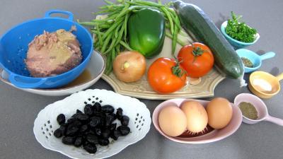Ingrédients pour la recette : Salade niçoise