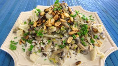 Recette assiette de cacahuètes grillées et ses restes de légumes