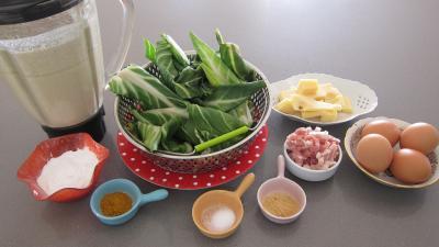 Ingrédients pour la recette : Blettes et ses crêpes soufflées