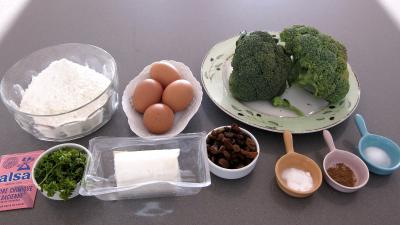 Ingrédients pour la recette : Beignets de brocolis au chèvre frais