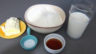 Ingrédients pour la recette : Pâte à crackers