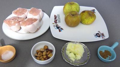 Ingrédients pour la recette : Paupiettes de dinde aux pommes et aux chips