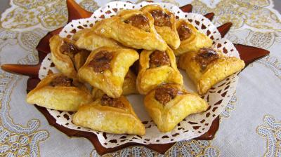 confiture d'abricots : Saladier d'oreilles d'Haaman (hamann-taschen)